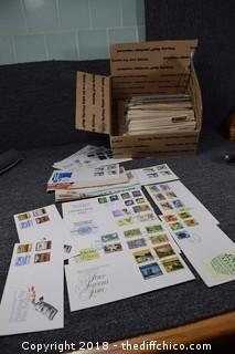 Box of Envelopes w/Stamps