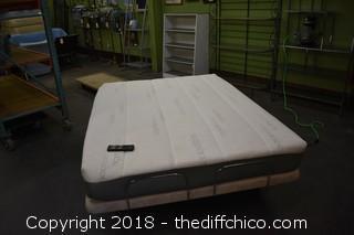 Queen Sleep Science Tempurpedic Adjustable Massage Mattress  w/Remote