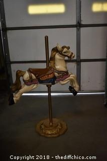 Metal Carousel Horse
