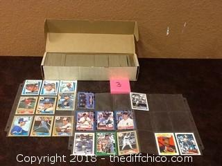 box of vintage baseball cards