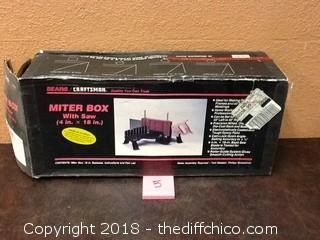 craftsman miter box with saw