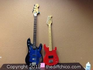 two project guitars