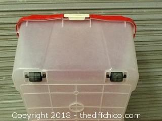 4ft long storage bin with lid