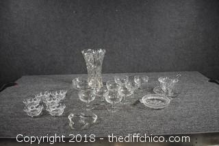 21 Pieces of Glass Lot