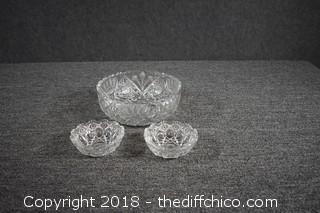 3 Pieces of Crystal - no chips