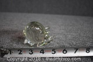 Glass Pig Figure
