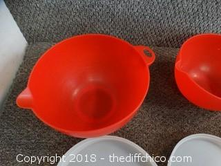 3 Piece Bowl With Lids
