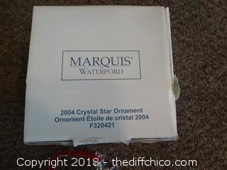 Marquis 2004 Crystal Star Ornament