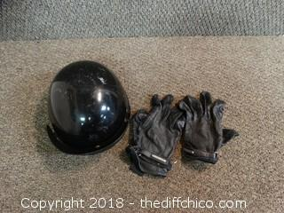 Motorcycle Helmet and Gloves