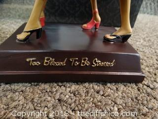 Too Blessed To Be Stressed Statue NIB
