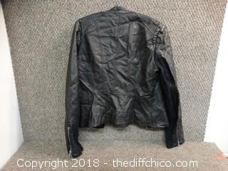 Black Rivet Leather Jacket