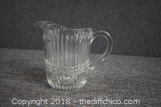 Vintage Press Glass Pitcher