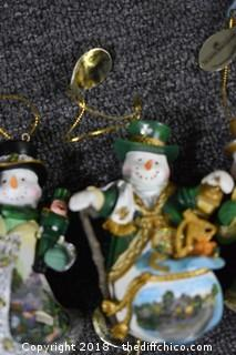 14 Ashton-Drake Snowmen Ornament Collection
