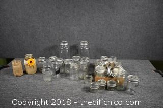 Lot of Canning Jars & More