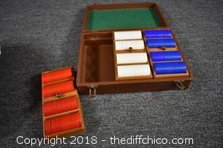 Poker Chips w/Carry Case