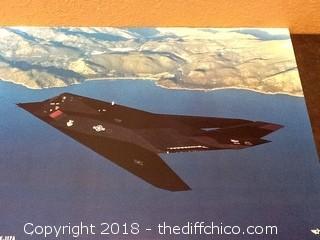 USAF lockheed F-117A poster