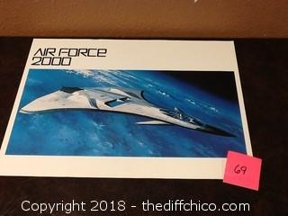 airforce 2000 plane in space poster
