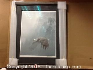 Robert Bateman numbered and signed eagle print