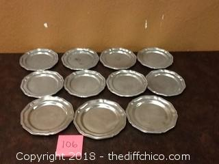 USA pewter plates