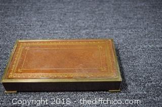 Vintage Brass Cigarette Box