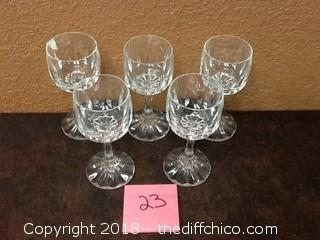 thick crystal wine glasses