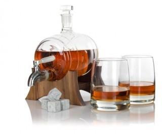 Atterstone Whiskey Barrel Decanter Set (JD17)