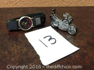 veteran watch and motorcycle lighter