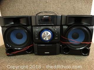 Sony 3 Piece Stereo Set Works