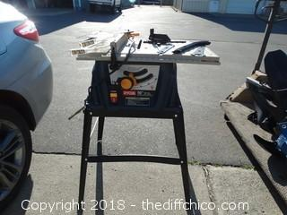 "Ryobi 10"" Table Saw With Accessories Works"