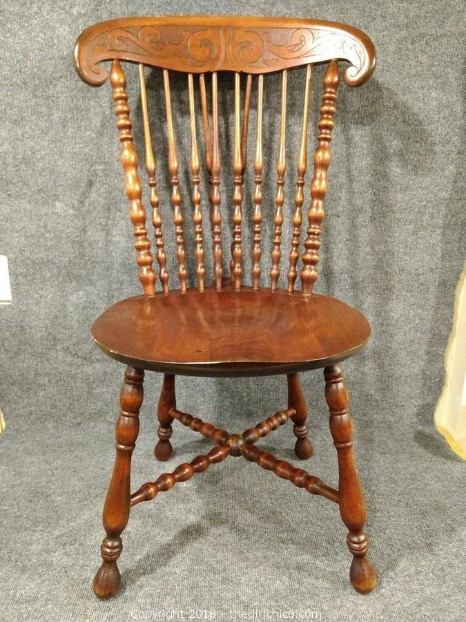 77b0feb3f93 The Difference - Auction  J   T Auctions (CLICK HERE TO OPEN AUCTION) ITEM   Walnut Spindle Chair 37