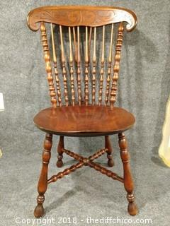 "Walnut Spindle Chair 37"" Tall"