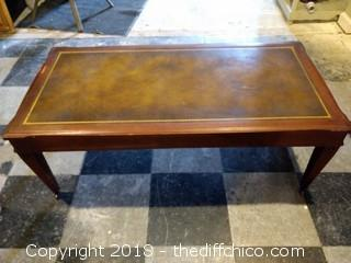 "1940's Wheeled Coffee Table - 41"" x 20"" x 15"""