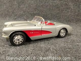 1957 Chevrolet Corvette Die Cast Car 1/18 Scale