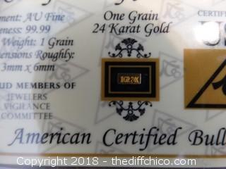 24K Gold 1 Grain