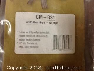 new global military gear AR A2 rear sights