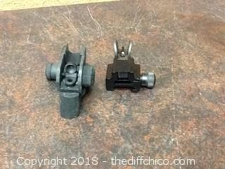 front and rear iron sights