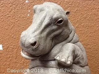 ceramic hippo piggy bank