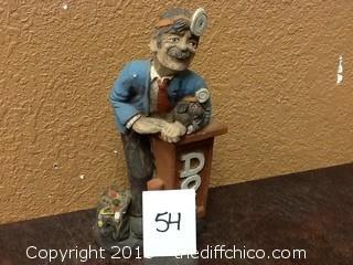 ceramic Doctor statue