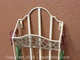 all metal wall hanging holder