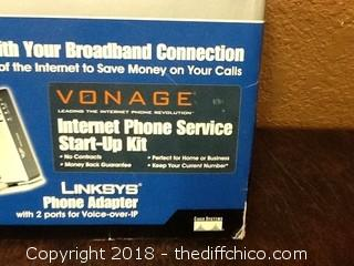 new in box linksys phone start up kit