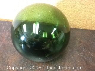 green glass buoy