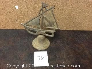 cast iron sail boat bell