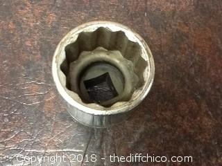 vintage 3/4'' drive snap-on socket