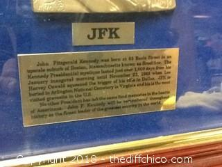 JFK commemorative display