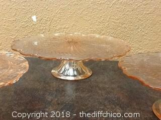 3 tier glass cake stands