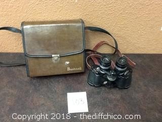 vintage Golden Gate binoculars with bushnell case