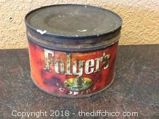 old folgers coffee tin