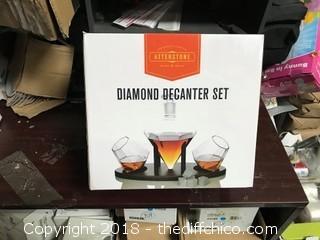 Atterstone Diamond Decanter Set (J14)