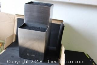 Zelancio Stainless Knife Block