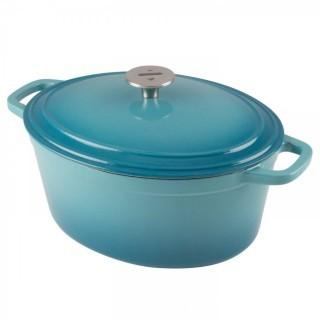 Teal 6 qt Cast Iron Dutch Oven